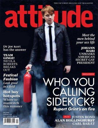 Руперт Гринт в журнале Attitude