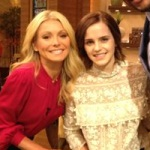 Эмма Уотсон на Live! with Kelly and Michael
